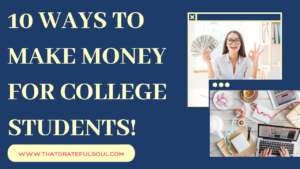 Legit ways to make money for college students
